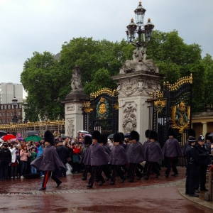 A Wet Change of Guard at Buckingham Palace