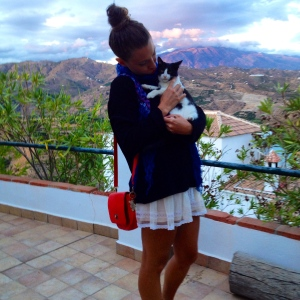 Peanut and I at 'Casa la Loma'