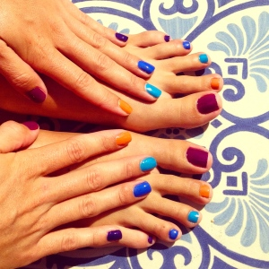 Mani-Pedi fun in the Spanish sun