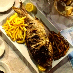 Pargos is served at 'Rompeolas' restaurant at Torre del Mar