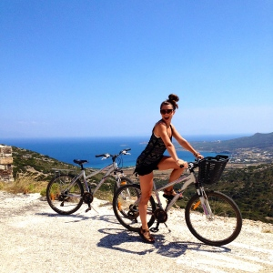 Cycling around Antiparos Island