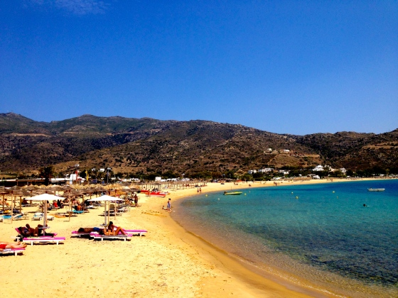 Magical Mylopotas Beach. Ios. Greece.